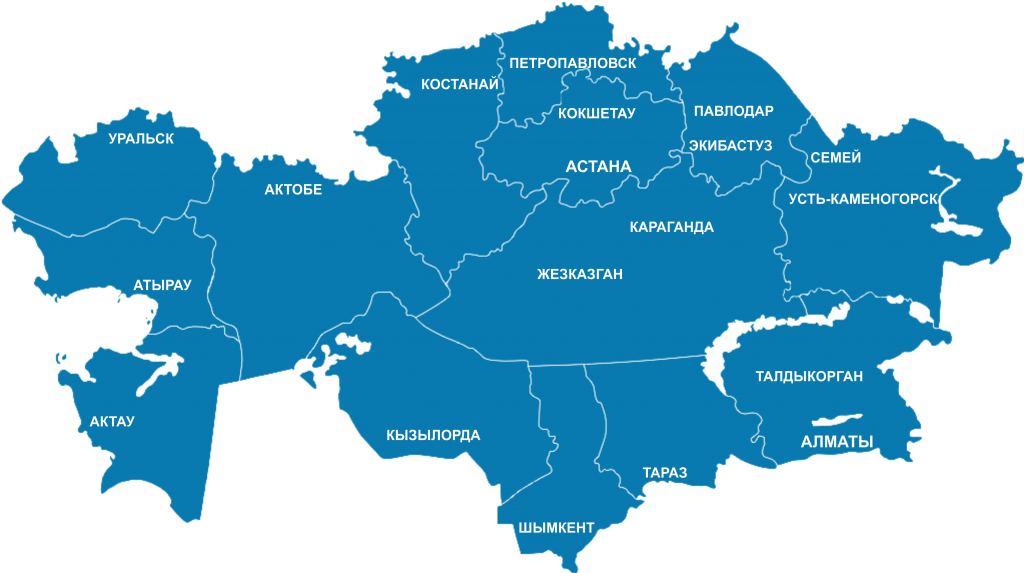 Карта Казахстана